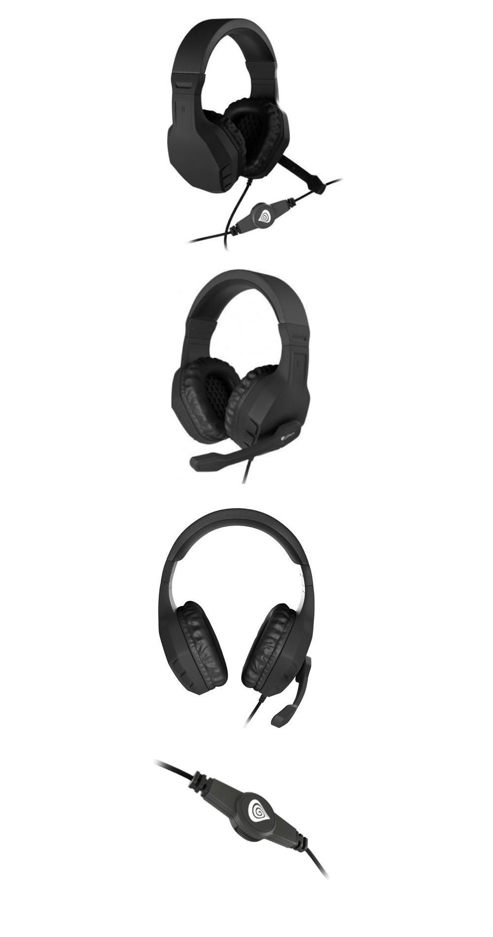 Słuchawki GENESIS ARGON 200 Z MIKROFONEM czarne