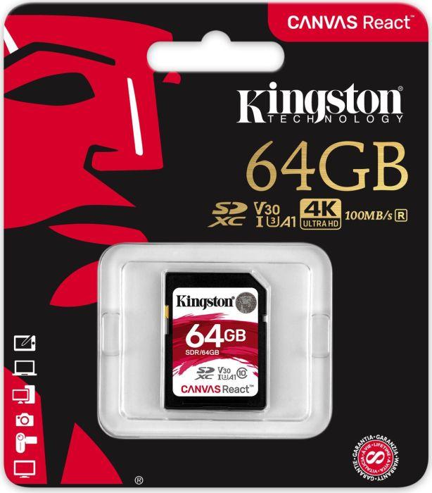 Karta Pamieci Kingston Sdr 64gb 64gb Sdxc U3 100 80