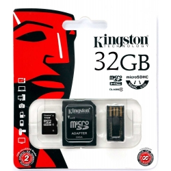 Karta pamięci microSDHC KINGSTON 32GB CL10 ADP USB MBLY10G2/32GB